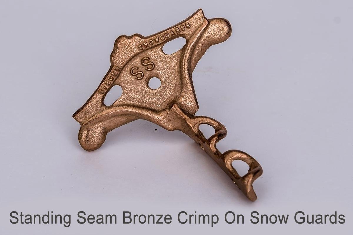 Standing Seam Bronze Crimp On Snow Guards side